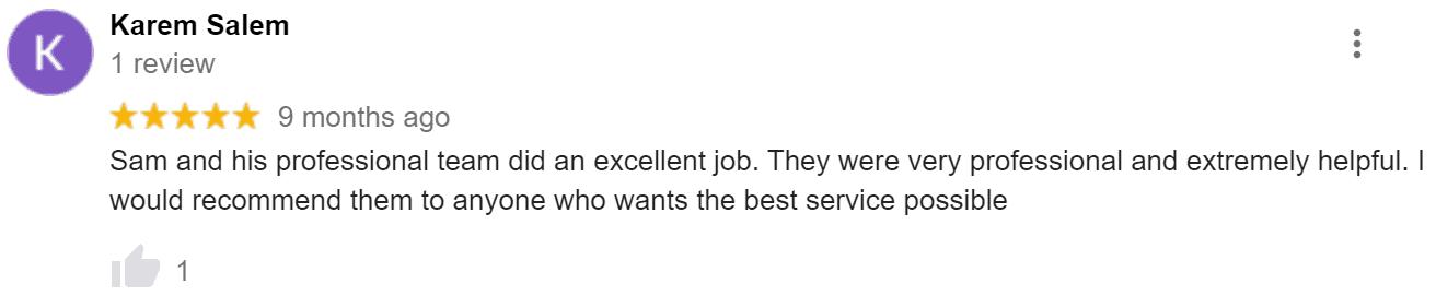 Home Renovation Google Review